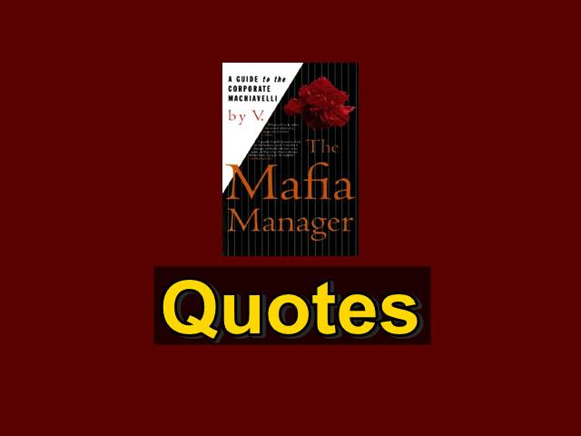 Mafia Manager Quotes Kutipan