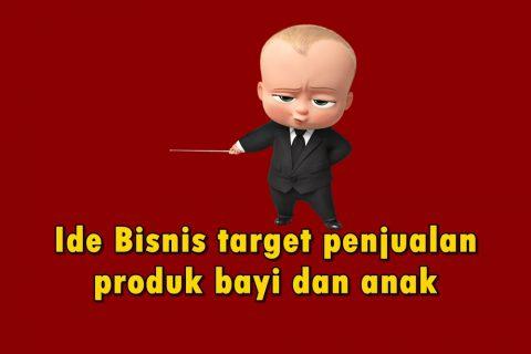 ide bisnis target produk bayi